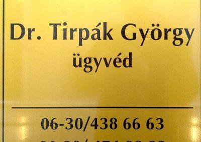 Dr. Tirpák György ügyvéd